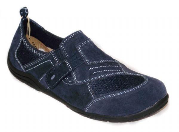 Lincoln deep navy Suede leather shoe.